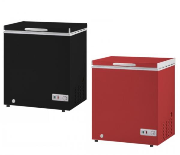 Congeladora Conservadora 155 Lts - Color Negro/Rojo