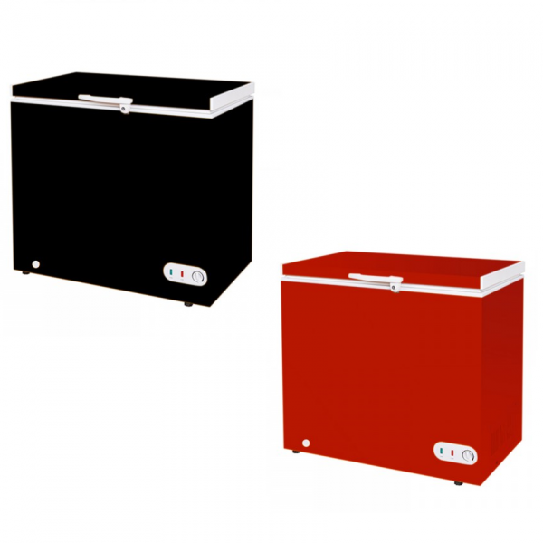 Congeladora Conservadora 215 Lts - Color Negro/Rojo