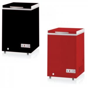 Congeladora Conservadora 105 Lts - Color Negro/Rojo